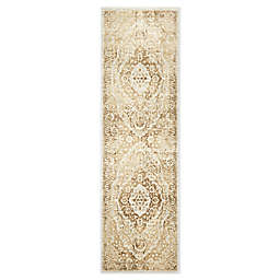 """Home Dynamix Kenmare by Nicole Miller Medallion 2'2"""" x 7'2"""" Runner in Grey/Yellow"""