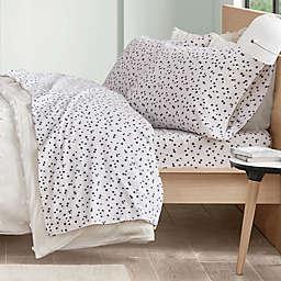 Intelligent Design Stars Cozy Flannel Twin Sheet Set in Blue