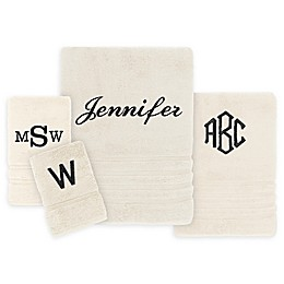 Wamsutta Personalized Trio Cotton Bath Towel Collection