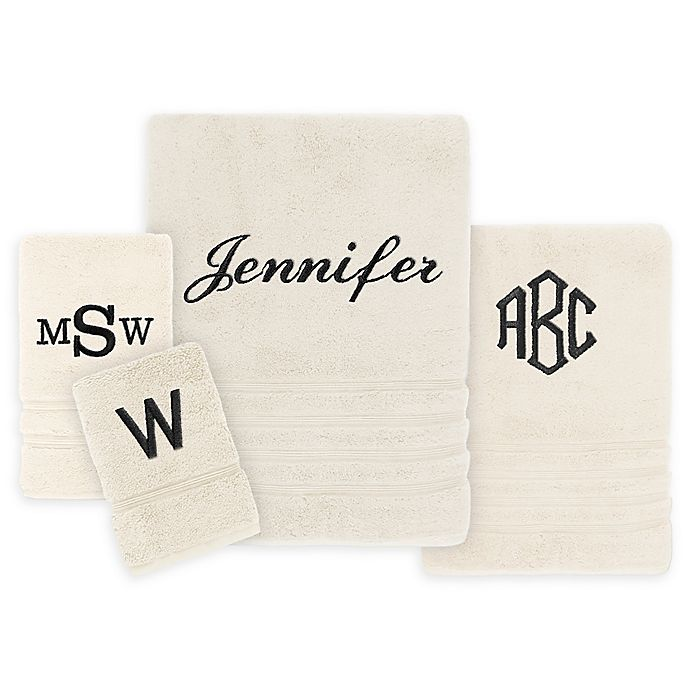 Alternate image 1 for Wamsutta Personalized Trio Cotton Bath Towel Collection
