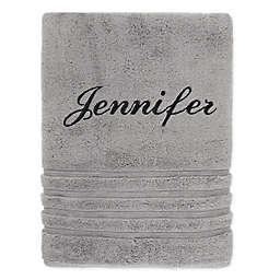 Wamsutta Personalized Trio Cotton Bath Sheet in Grey