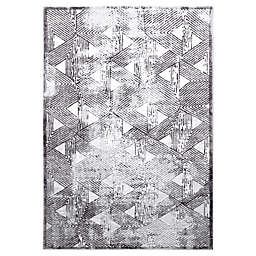 "Home Dynamix Kenmare by Nicole Miller Triangles 7'9"" x 10'2"" Area Rug in Grey"