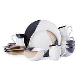 Gourmet Basics by Mikasa® Caden 16-Piece Dinnerware Set in White/Brown
