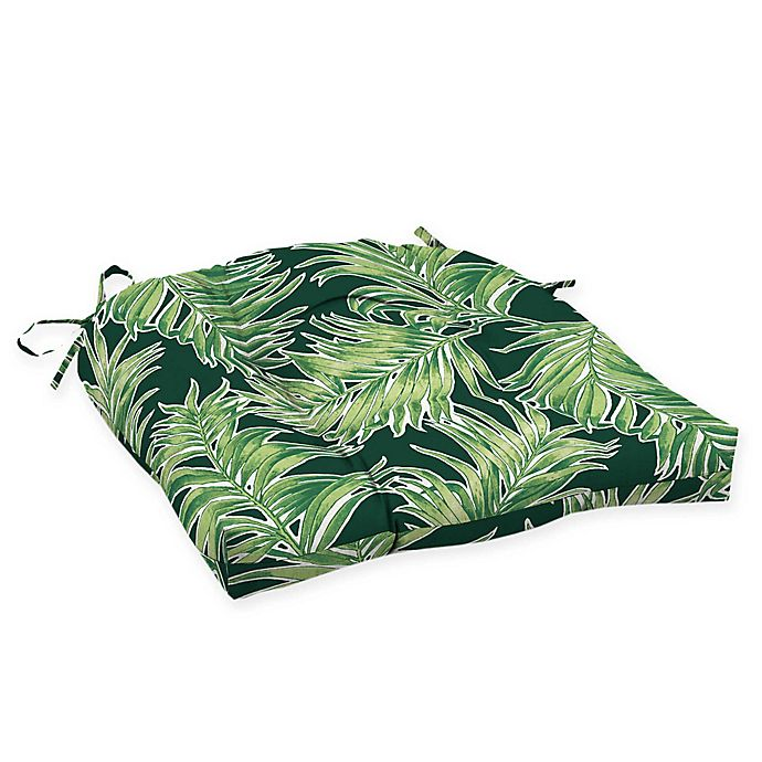 Alternate image 1 for Arden Selections™ Print Outdoor Wicker Seat Cushions (Set of 2)