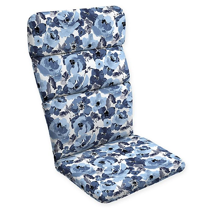 Alternate image 1 for Arden Selections™ Garden Print Outdoor Adirondack Chair Cushion in Blue/Cream