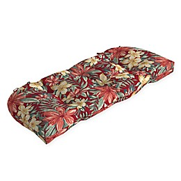 Arden Selections™ Print Outdoor Wicker Settee Cushion