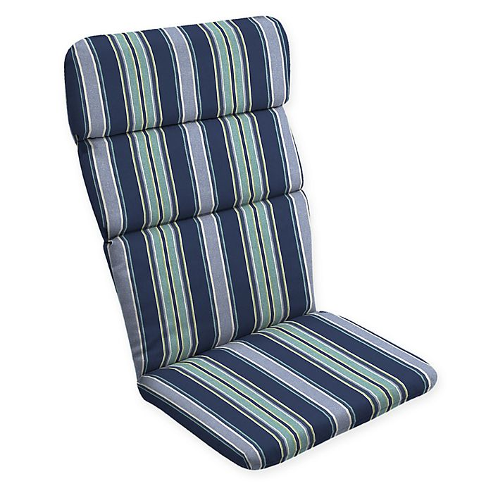 Alternate image 1 for Arden Selections™ Aurora Striped Outdoor Adirondack Chair Cushion in Blue