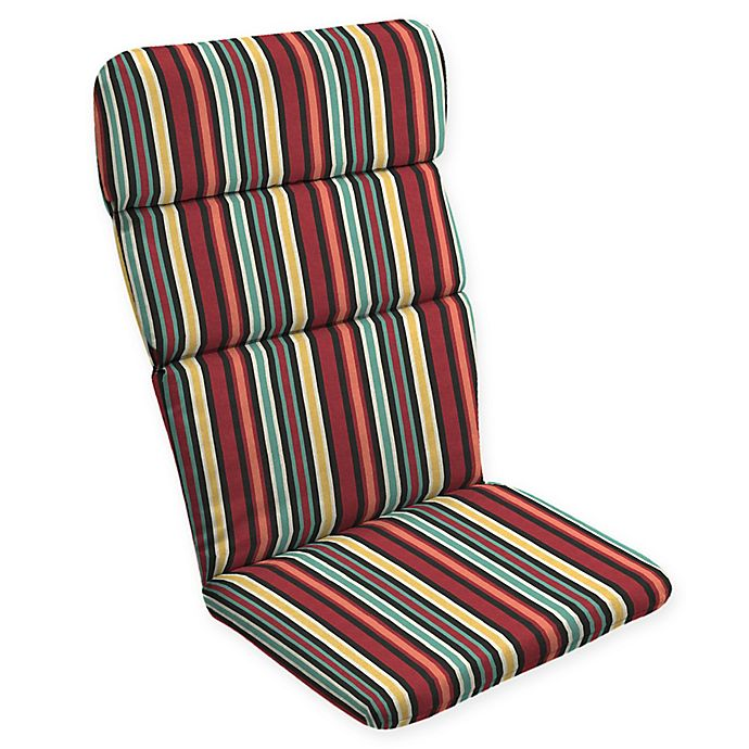 Alternate image 1 for Arden Selections™ Abella Striped Outdoor Adirondack Chair Cushion