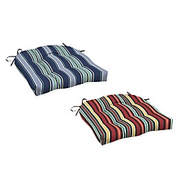 Arden Selections™ Striped Outdoor Wicker Seat Cushions (Set of 2)