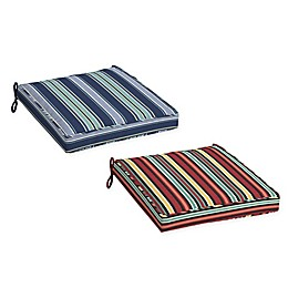 Arden Selections™ Striped Outdoor Dining Seat Cushion (Set of 2)
