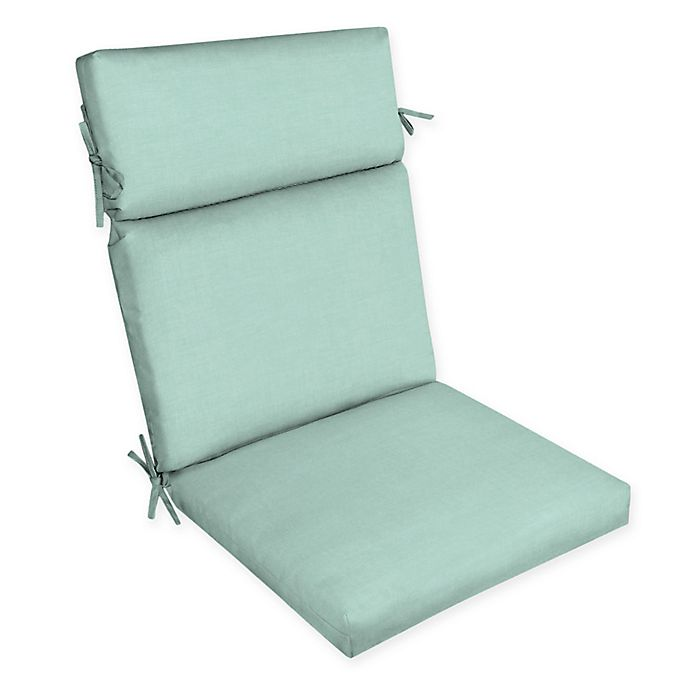 Alternate image 1 for Arden Selections™ Solid Outdoor Dining Chair Cushion in Blue/Green