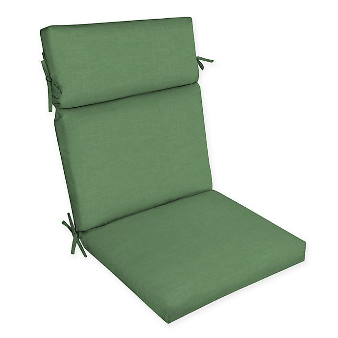 Alternate image 1 for Arden Selections™ Solid Outdoor Dining Chair Cushion in Green