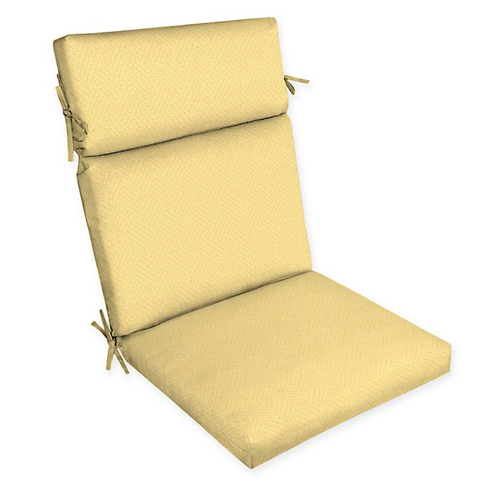 Alternate image 1 for Arden Selections™ Solid Outdoor Dining Chair Cushion in Yellow