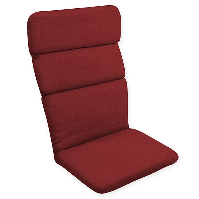 Alternate image 1 for Arden Selections™ Solid Outdoor Adirondack Chair Cushion in Ruby