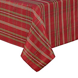 Elrene Home Fashions Shimmering Plaid Table Linen Collection