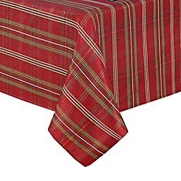 Elrene Home Fashions Shimmering Plaid Tablecloth in Red/Green