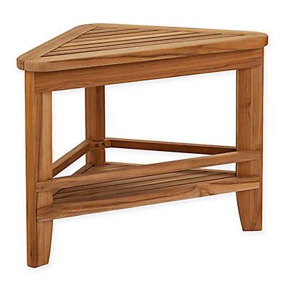 Southern Enterprises Pamlyn Teakwood Corner Table