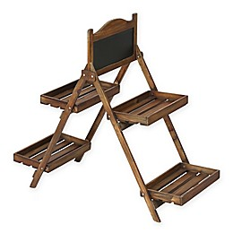 2-Tier Ladder Plant Stand in Brown