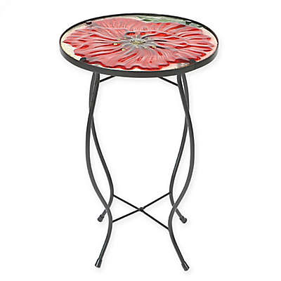 Winsome House Flower Accent Table in Red