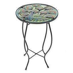 Winsome House Peacock Accent Table in Black