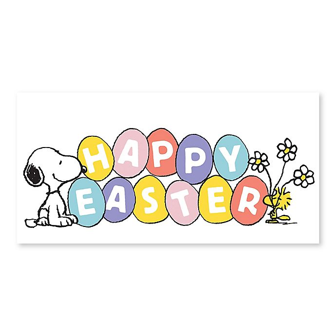 Peanuts® Easter Happiness 12-Inch x 24-Inch Wrapped Canvas
