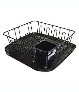 Escurridor chico para platos SALT™, en negro