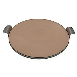 Artisanal Kitchen Supply® 15-Inch Pizza Stone with Stainless Steel Tray