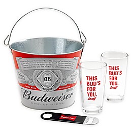 Budweiser® 4-Piece Bucket Gift Set in Red