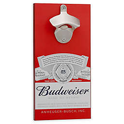 Budweiser® Bottle Opener with Magnetic Cap Holder in Red