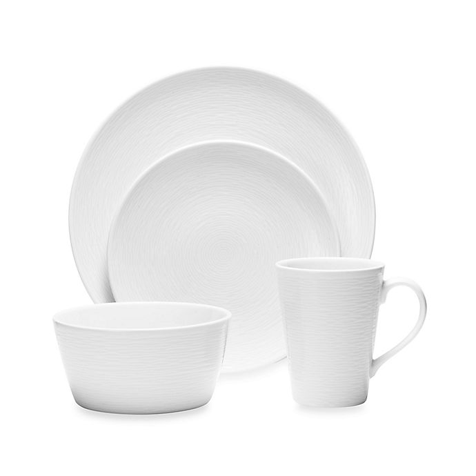 Alternate image 1 for Noritake® White on White Swirl 4-Piece Round Place Setting