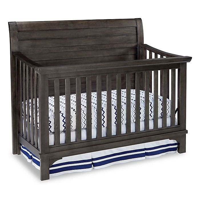 Alternate image 1 for Westwood Design Taylor 4-in-1 Convertible Crib in River Rock Brown/Black
