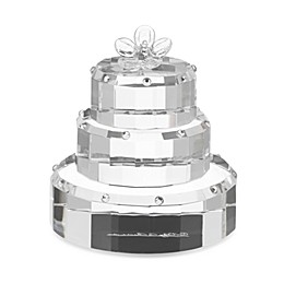 Oleg Cassini Crystal Diamond Wedding Cake Favor