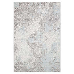 Christian Siriano Watercolor Rug in Ivory/Grey