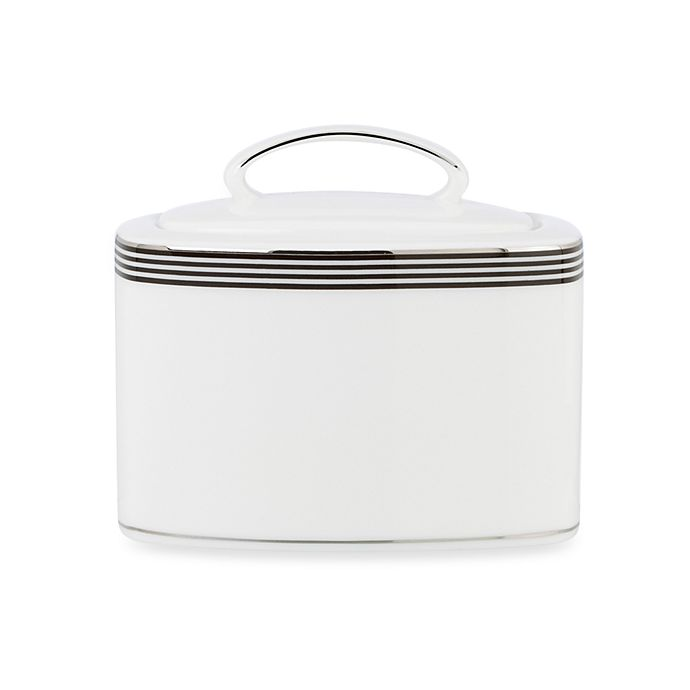 Alternate image 1 for kate spade new york Parker Place™ Sugar Bowl in White