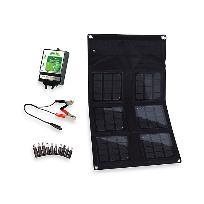 Alternate image 1 for Nature Power 18-Watt Folding Solar Panel with 8-Amp Solar Charge Controller