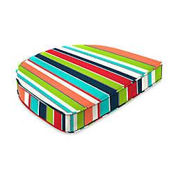 Stripe 19.5-Inch Square Dining Cushion-Boxed in Sunbrella® Fabric