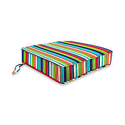 Stripe 20-Inch Boxed Edge Chair Cushion in Sunbrella® Fabric