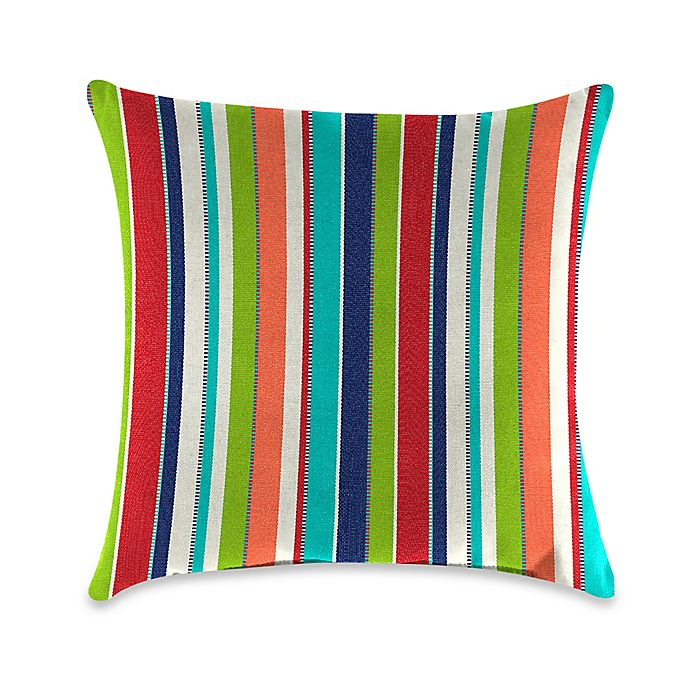 Alternate image 1 for Stripe Outdoor 20-Inch Square Throw Pillows in Sunbrella® Fabric