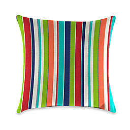 Stripe Outdoor 20-Inch Square Throw Pillows in Sunbrella® Fabric