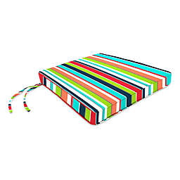 Stripe 17-Inch x 18.5-Inch Chair Cushion in Sunbrella® Fabric
