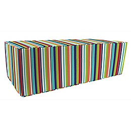 Stripe 25-Inch x 50-Inch Outdoor Pouf/Ottoman-Boxed in Sunbrella® Fabric