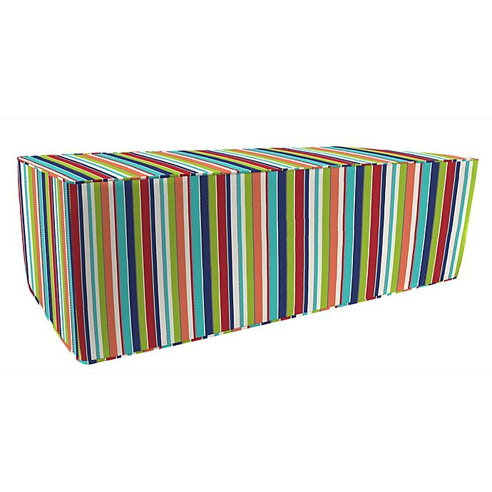 Stupendous Stripe 25 Inch X 50 Inch Outdoor Pouf Ottoman Boxed In Frankydiablos Diy Chair Ideas Frankydiabloscom
