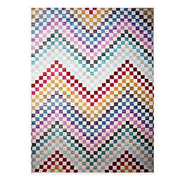 Home Dynamix Marquee Checkered Chevron Multicolor Area Rug