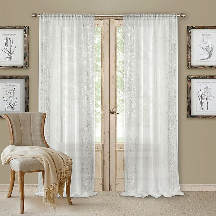 Alternate image 1 for Addison Rod Pocket 95-Inch Window Curtain Panel in White