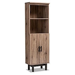 Baxton Studio Ashton Bookcase in Oak/Black