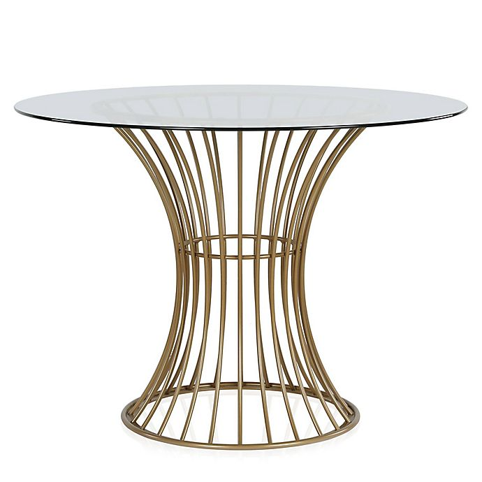 Cosmoliving By Cosmopolitan Westwood Glass Top Dining Table Bed Bath Beyond