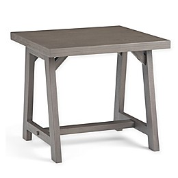 Simpli Home Sawhorse Wooden End Table in Farmhouse Grey
