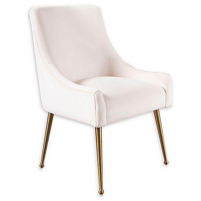 Fabulous Abbyson Living Evie Velvet Dining Chair In Ivory Bed Bath Ibusinesslaw Wood Chair Design Ideas Ibusinesslaworg