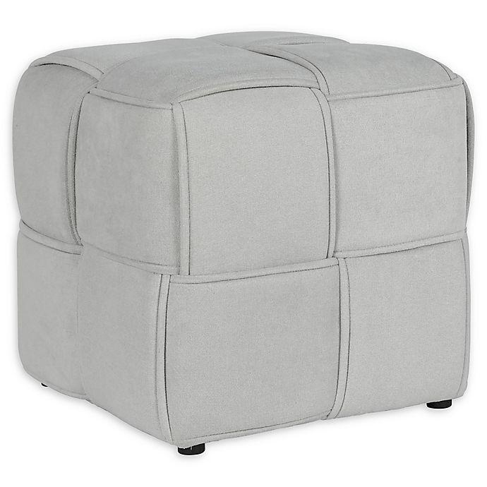 Alternate image 1 for Cosmoliving® Upholstered Grant Ottoman in Gray