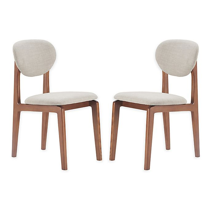 Alternate image 1 for Elle Décor® Polyester Upholstered Coralie Dining Chairs in Light Gray (Set of 2)